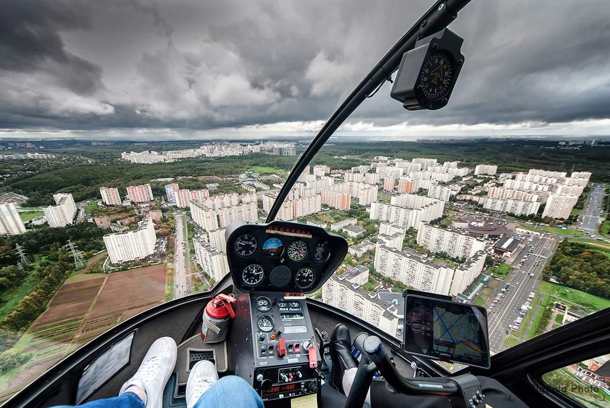 Фото из окна вертолета