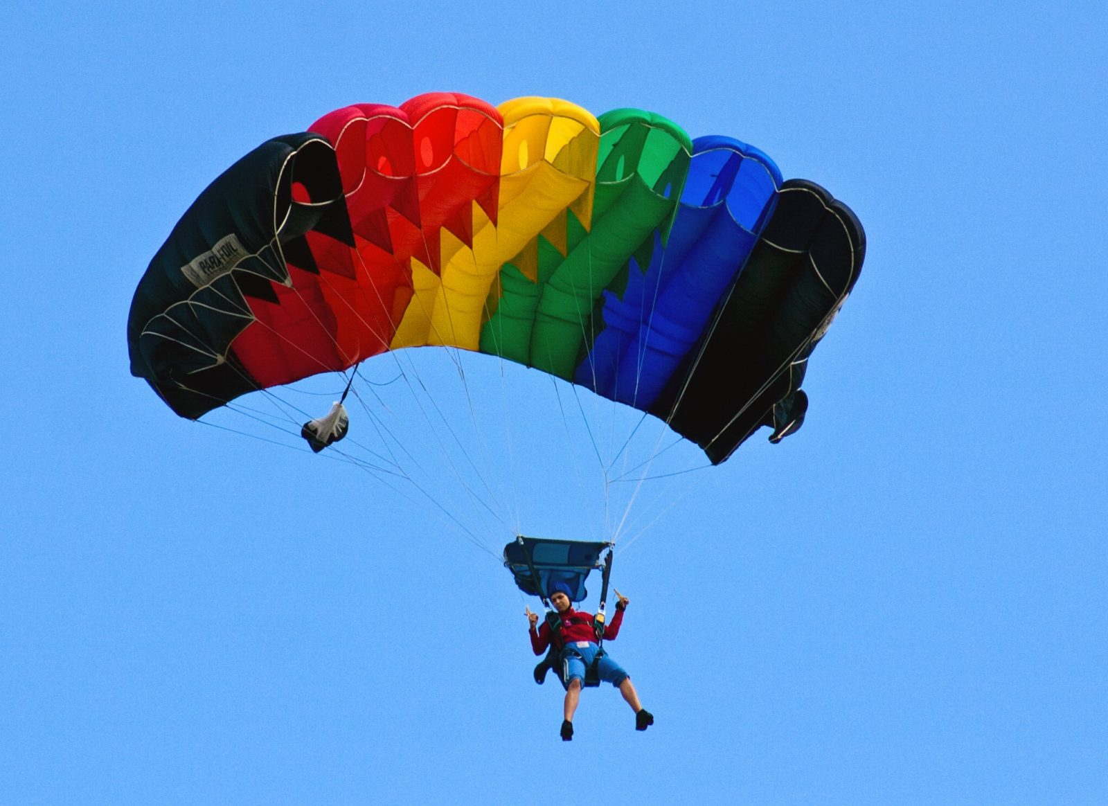 Прыжок с парашютом крыло
